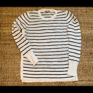 Madewell long sleeve striped knit shirt